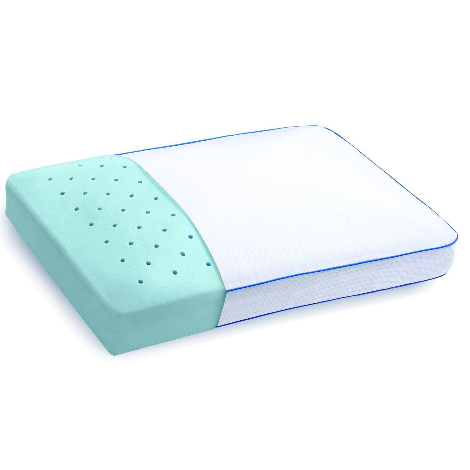pillow gel amazon foam home cooling dp core side com kitchen memory lofty serta sleeper