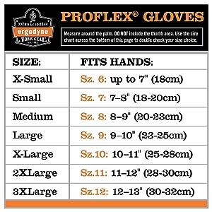 Ergodyne ProFlex 710 Work Gloves Black 2X-Large 845