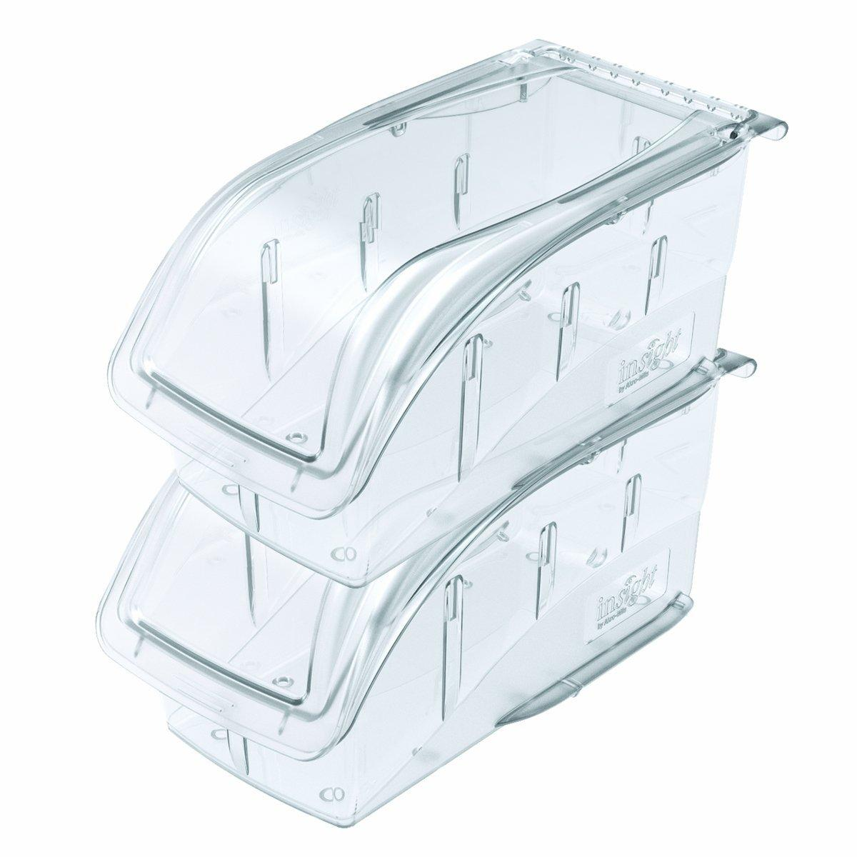 305A1 AKRO-MILS Polycarbonate Hang and Stack Bin,5-3//8 In L,Clear Clear
