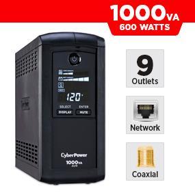 CyberPower CP1000AVRLCD Battery Backup UPS