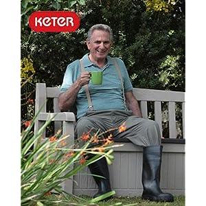 Keter Eden Garden Bench Outdoor storage deck box poolside yard