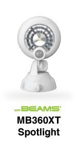 mr beams led spotlight, mb360xt, wireless motion spotlight
