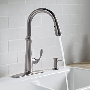 Kohler K-560-CP Bellera Pull-Down Kitchen Faucet, Polished