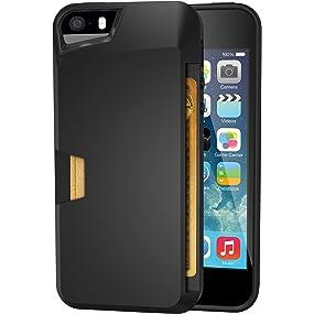 huge discount dcb50 bfa7f Silk iPhone SE / 5 / 5s Wallet Case - Wallet Slayer Vol. 1 [Slim Protective  Vault Credit Card Cover] - Black Onyx