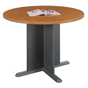 Amazoncom Bush Business Furniture Inch Round Conference Table - Small round office conference table