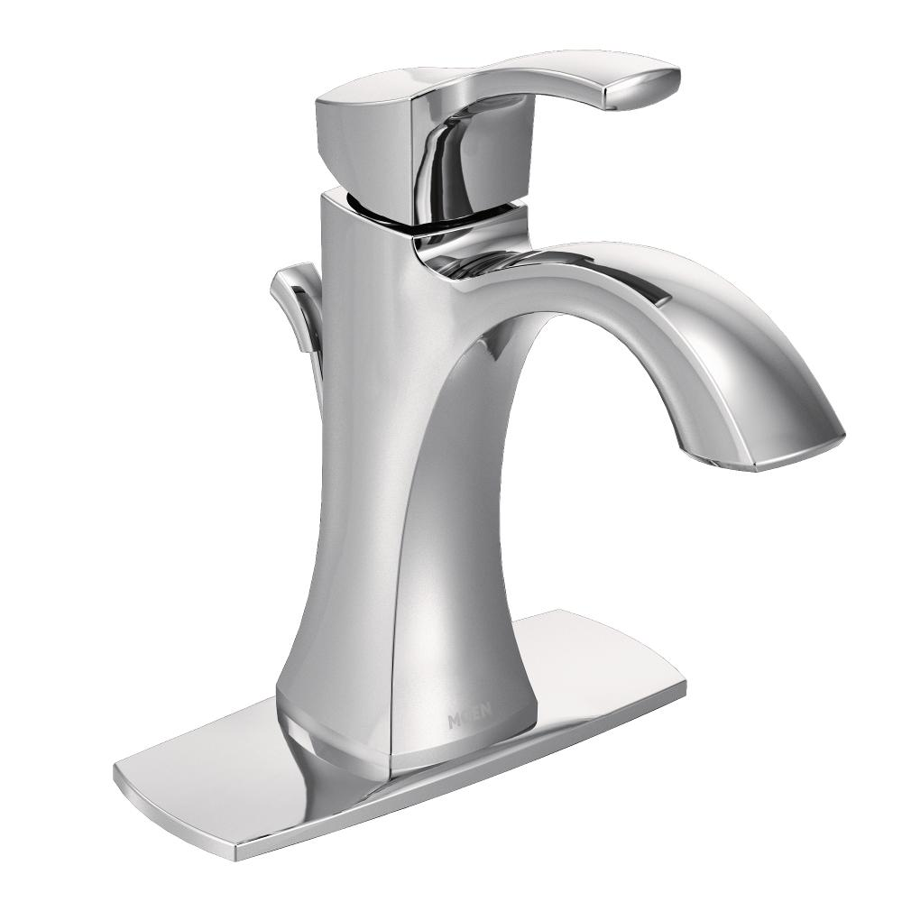 Moen 6903 Voss One Handle High Arc Bathroom Faucet Chrome