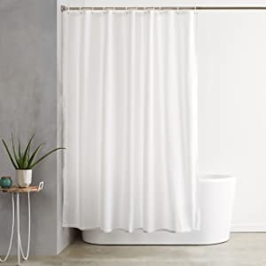 AmazonBasics Solid Shower Curtain 72 X Inches
