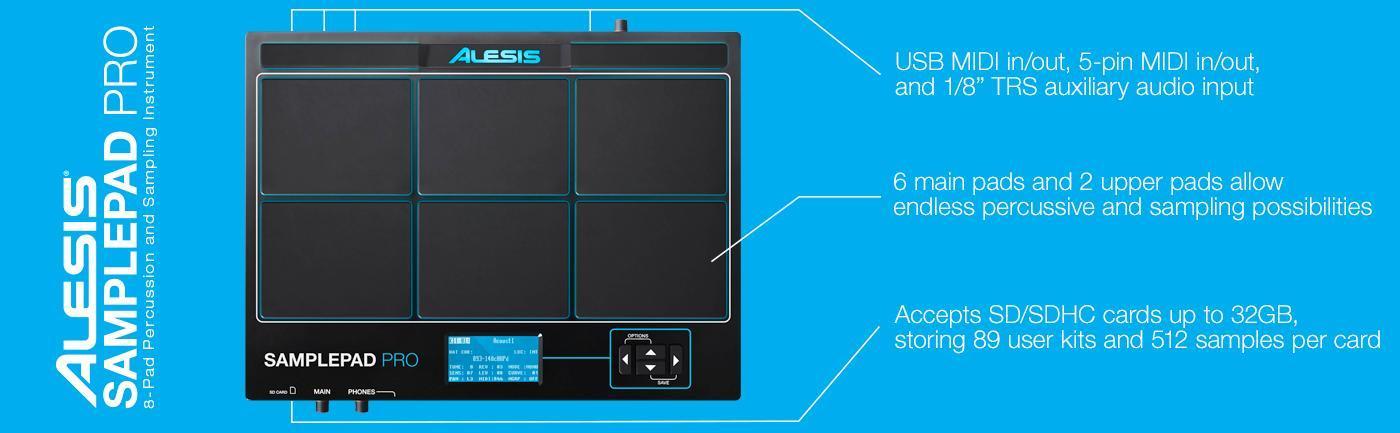 alesis samplepad pro 8 pad percussion and sample triggering