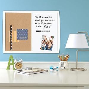 Amazon.com : Quartet Dry Erase Board / Cork Board