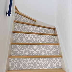 stairs, wallpaper for stairs, stair runner
