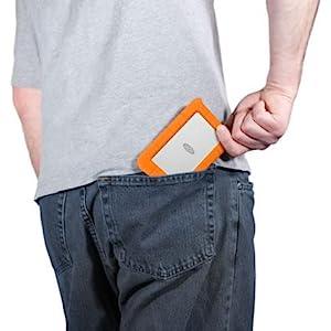 LaCie Rugged USB 3.0 Mini Disk Portable Hard Drive