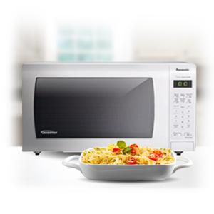 Panasonic NN-SN936W Countertop Microwave with Inverter Technology, 2.2 cu. ft., 1250W, White