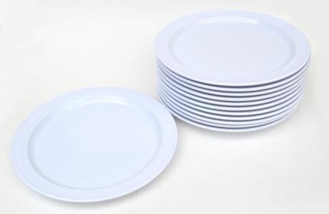 View larger & Amazon.com | 12 Pack Set - Melamine - Narrow Rim Dinner Plate White ...