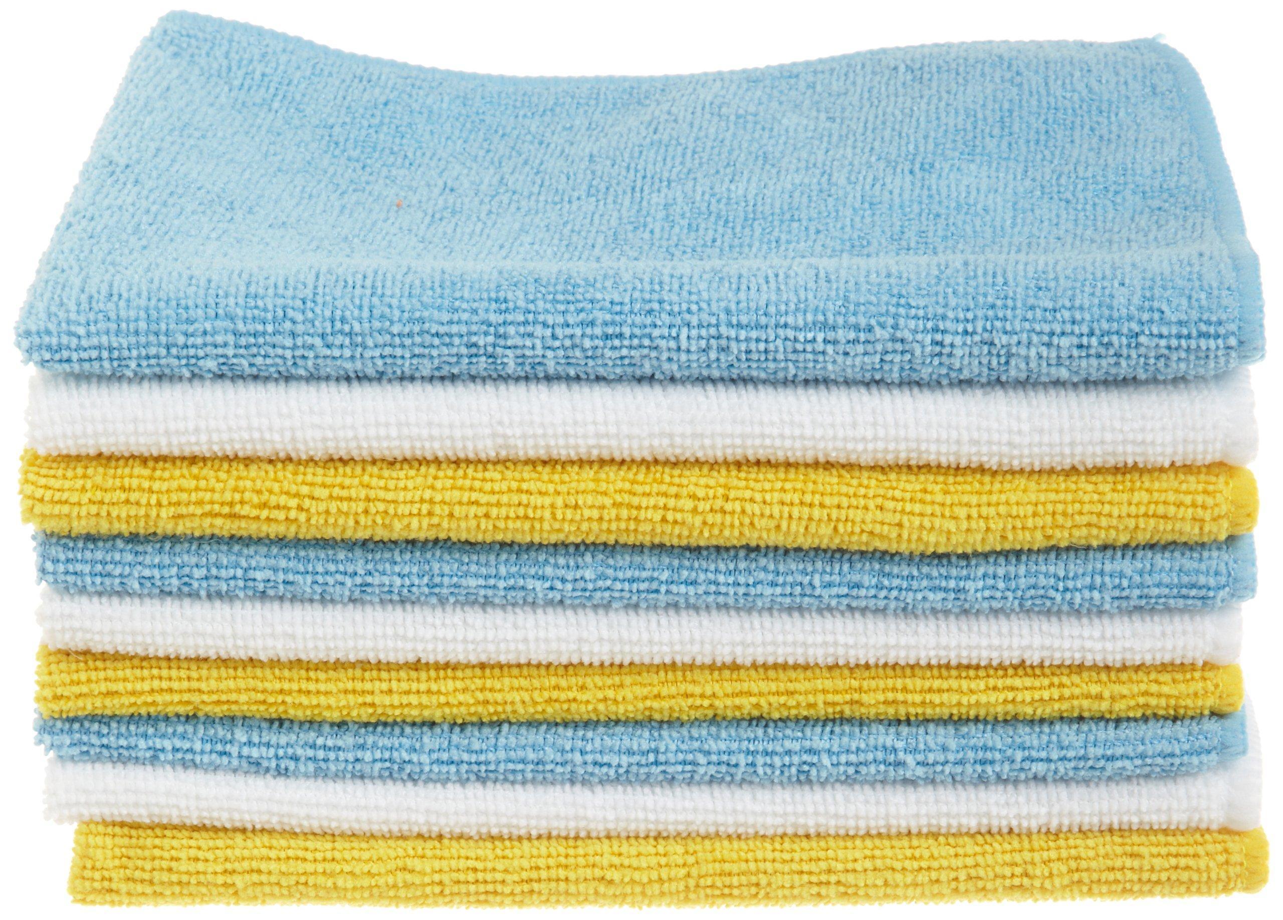 AmazonBasics Microfiber Cleaning Cloth - 36 Pack, Microfiber ...