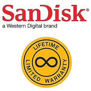 SanDisk lifetime limited warranty