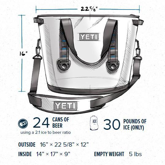 YETI Hopper 20 Portable Cooler Field Tan/Blaze Orange