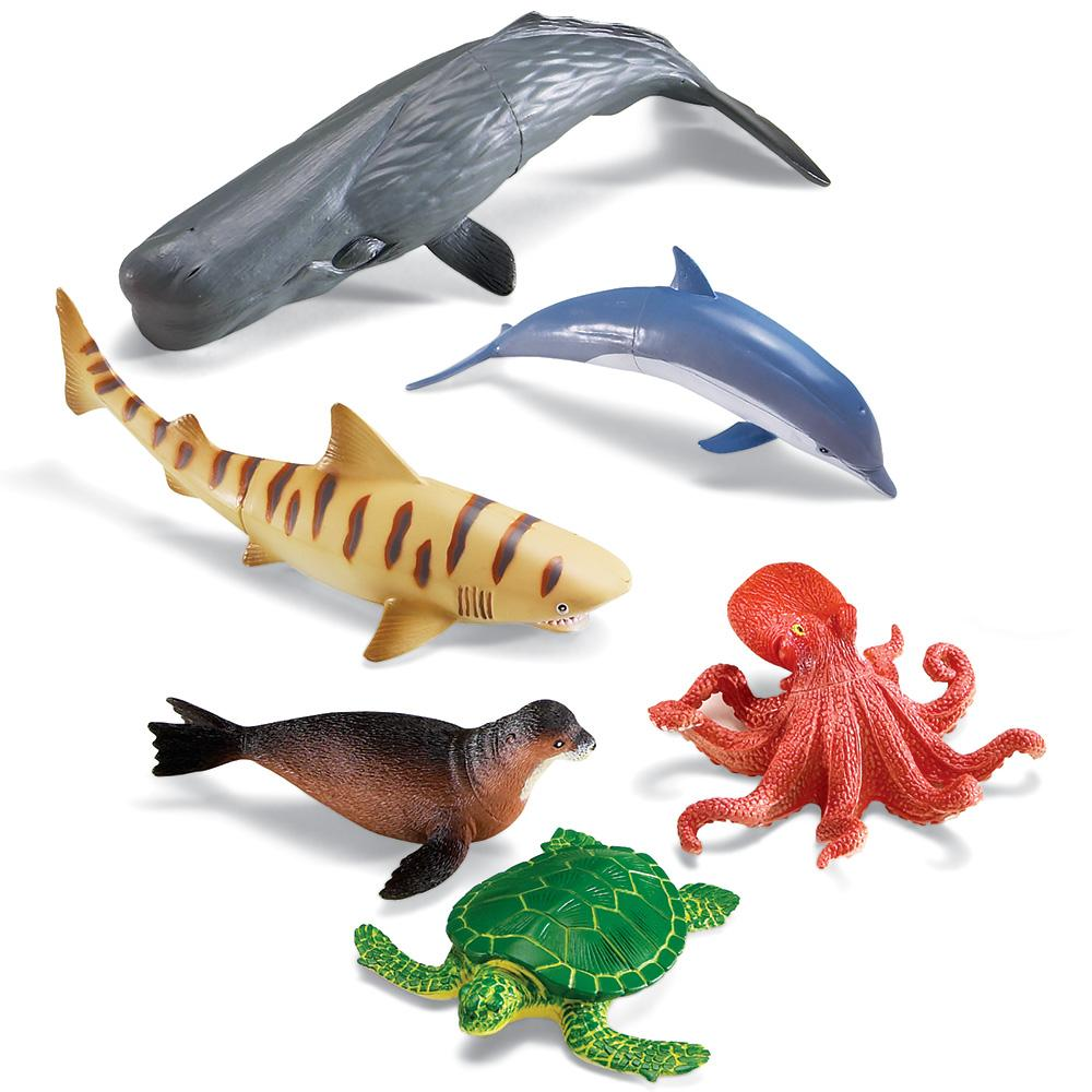 Image of: Whales Jumbo Ocean Animals Amazonca Learning Resources Jumbo Animals Ocean Animals Figures Amazon Canada