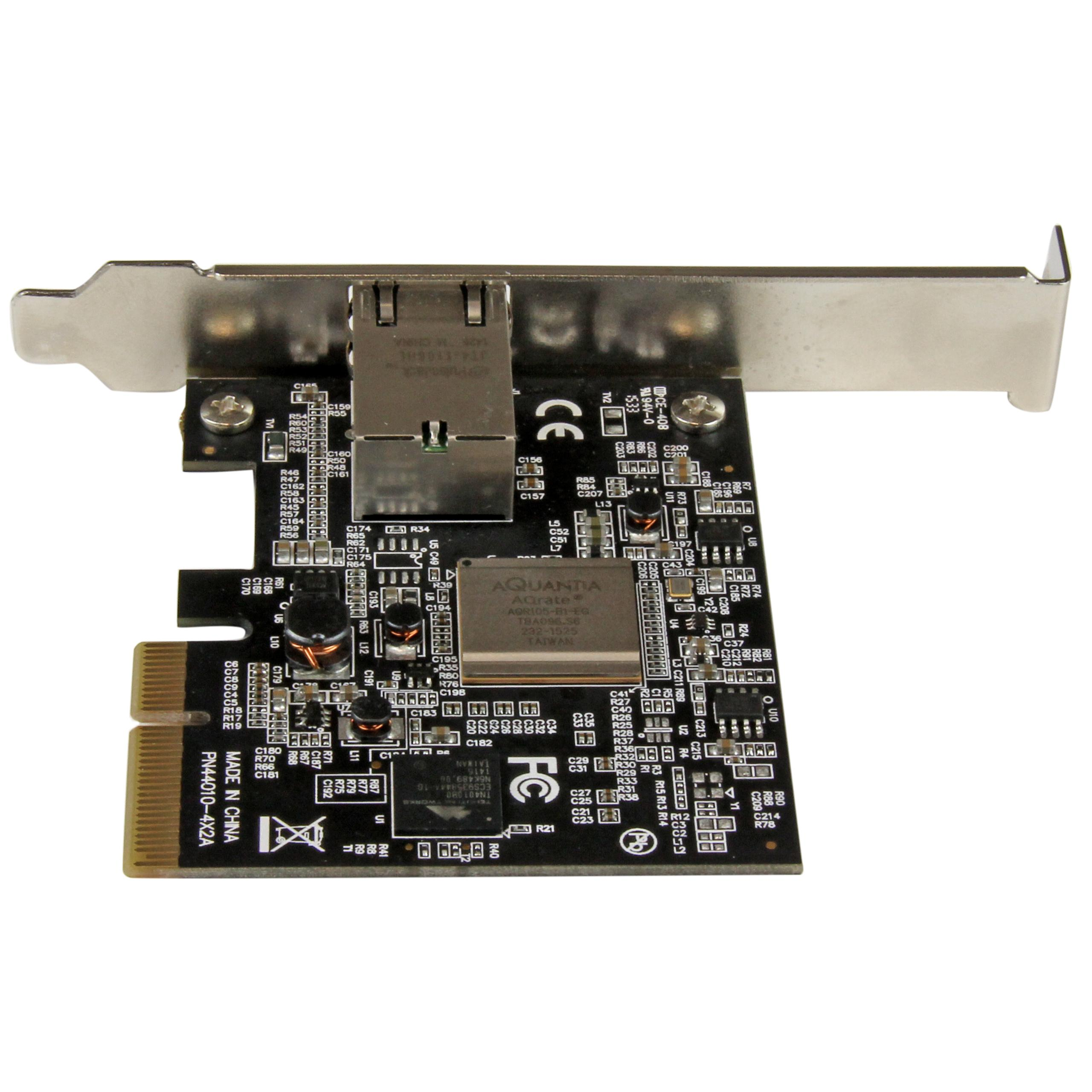 1 Port PCI Express 10GBase-T/NBASE-T Ethernet Network Card - 5-Speed Network Support: 10G/5G/2.5G/1G/100Mbps - PCIe 2.0 x4