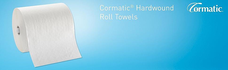 Cormatic Paper Towel Roll by GP PRO (Georgia-Pacific), White, 2930P, 700  Linear Feet Per Roll, 6 Rolls Per Case