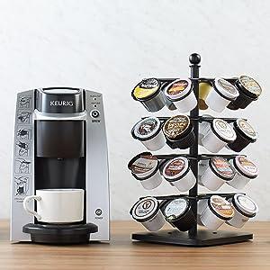 AmazonBasics Coffee Pod Storage Carousel for K-Cups - 32 Pod Capacity
