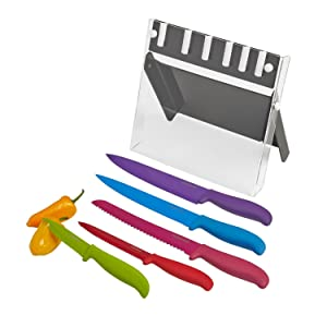 Farberware 15-Piece Stamped Stainless Steel Knife Block Set - 5152497