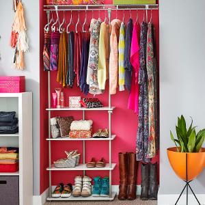 Closet Maximizer, Closetmaid, Closet Storage Space, Closet Organization,  Renters Closet, Wire