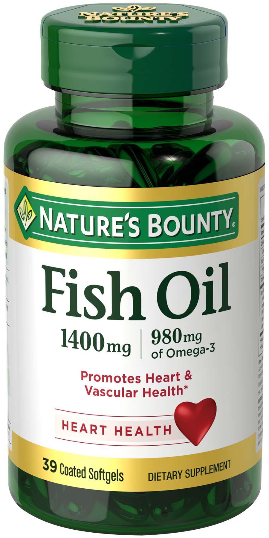 Nature 39 s bounty fish oil 1400 mg omega 3 for Fish oil alternative