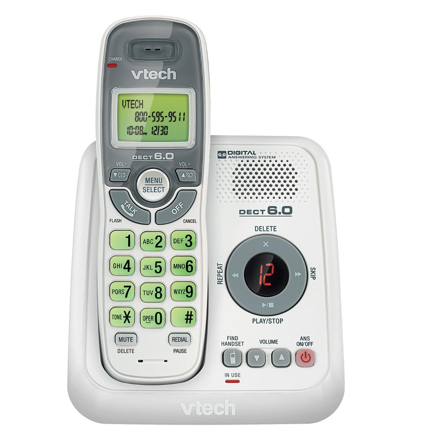 Amazoncom Vtech Cs6124 Dect 60 Cordless Phone With Answering