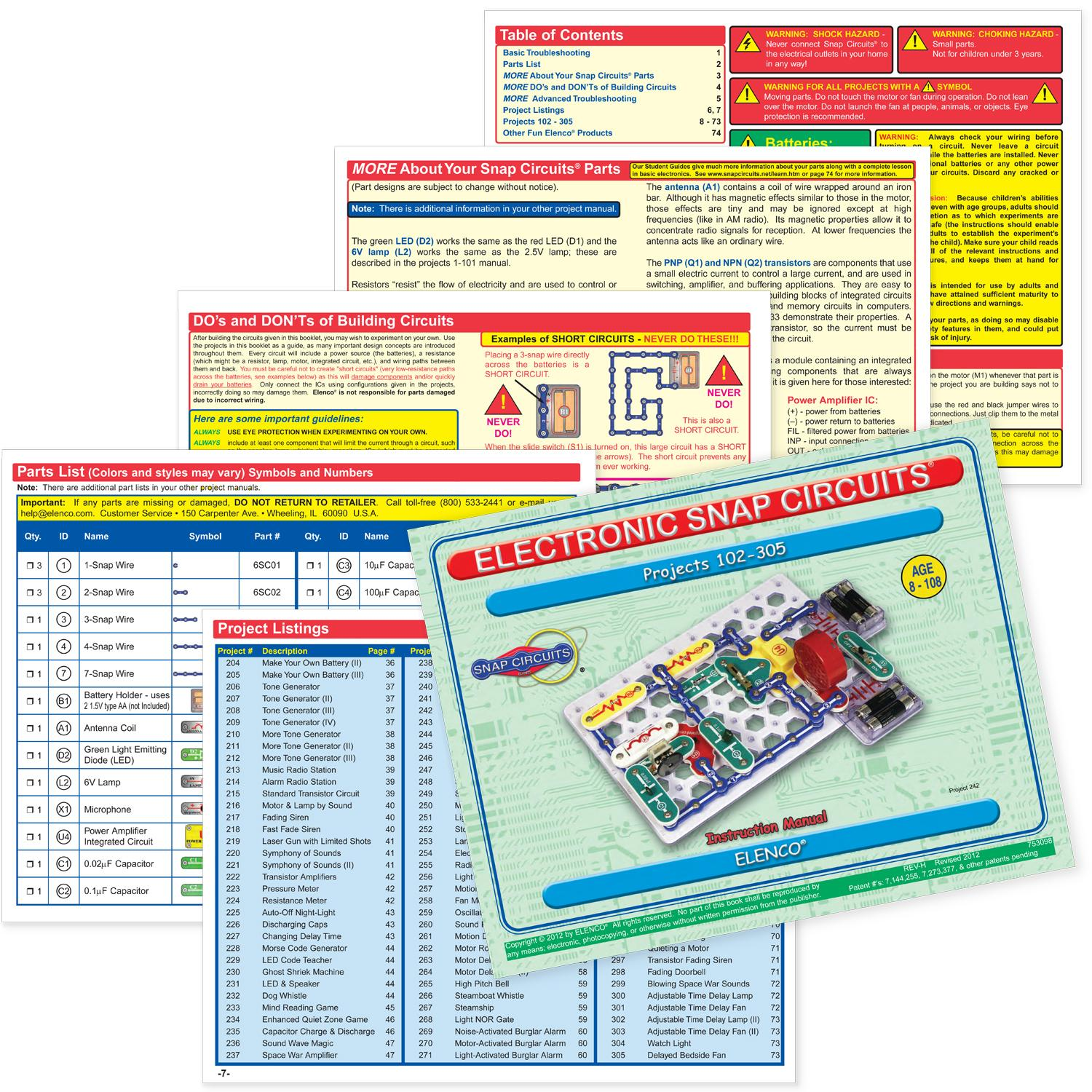 Elenco Electronic Snap Circuits Sc 300 Manual Everything About Extreme 750in1 Kit W Computer Interface Click To Systems Amazon Creations