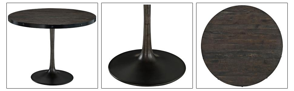 0d198c21b987 Amazon.com - Modway Drive Wood Top Dining Table in Black - Tables