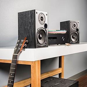 Amazon Polk Audio T15 Bookshelf Speakers Pair Black Home