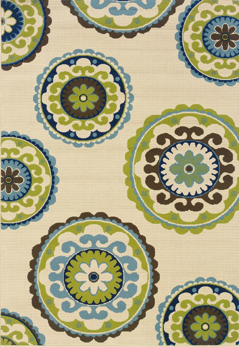 Amazon Com Oriental Weavers 8327l Caspian Outdoor Indoor Area Rug