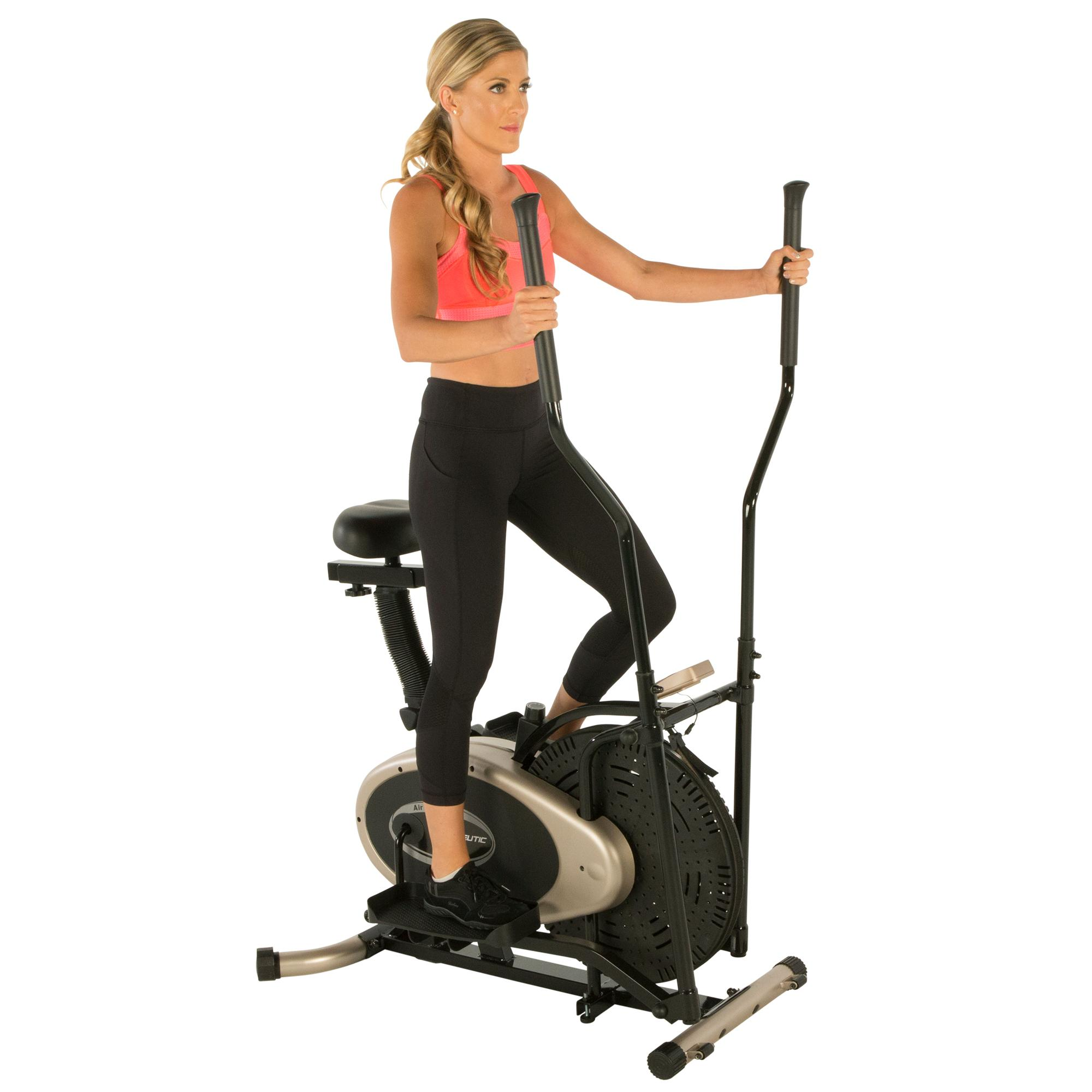 Exerpeutic GOLD Elliptical And Exercise Bike Dual Trainer