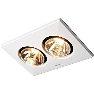 BROAN 164 Type IC Infrared Heater/Fan, 250-Watts, 2-Bulb
