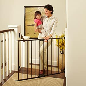 north states, easy swing gate, metal safety gate, baby gate, supergate easy swing lock, hardware