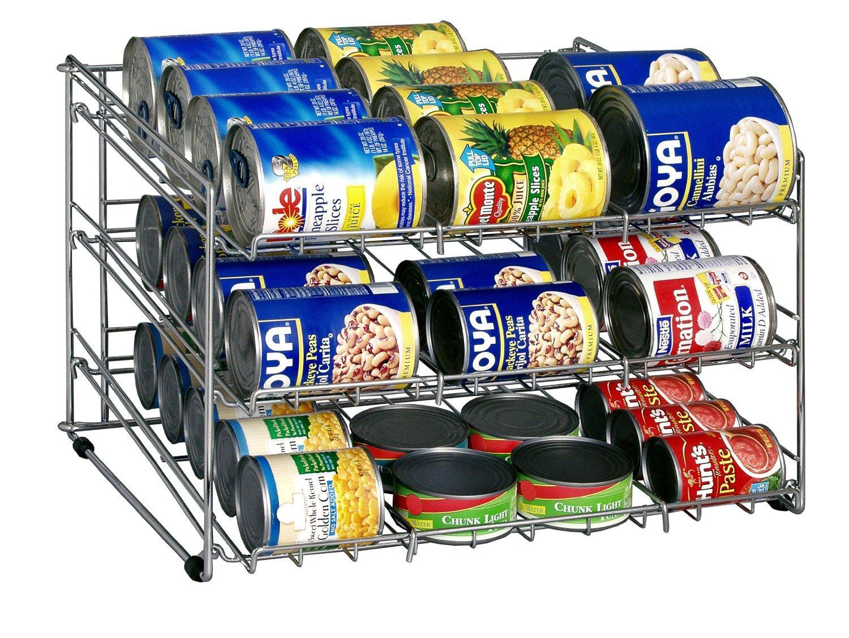 Canned Food Storage Rack  sc 1 st  Amazon.com & Amazon.com - Organize It All Chrome Canned Food Storage Rack ...