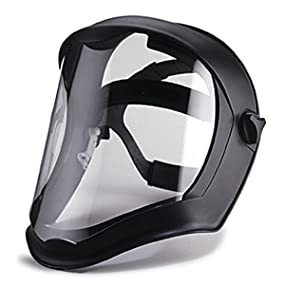 Uvex Bionic Face Shield with Clear Polycarbonate Visor, face shield, safety eyewear