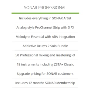 Cakewalk Sonar Professional Music Production Software