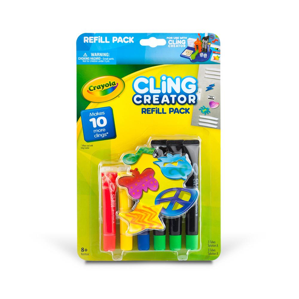 amazon com crayola cling creator refill pack refill set cling