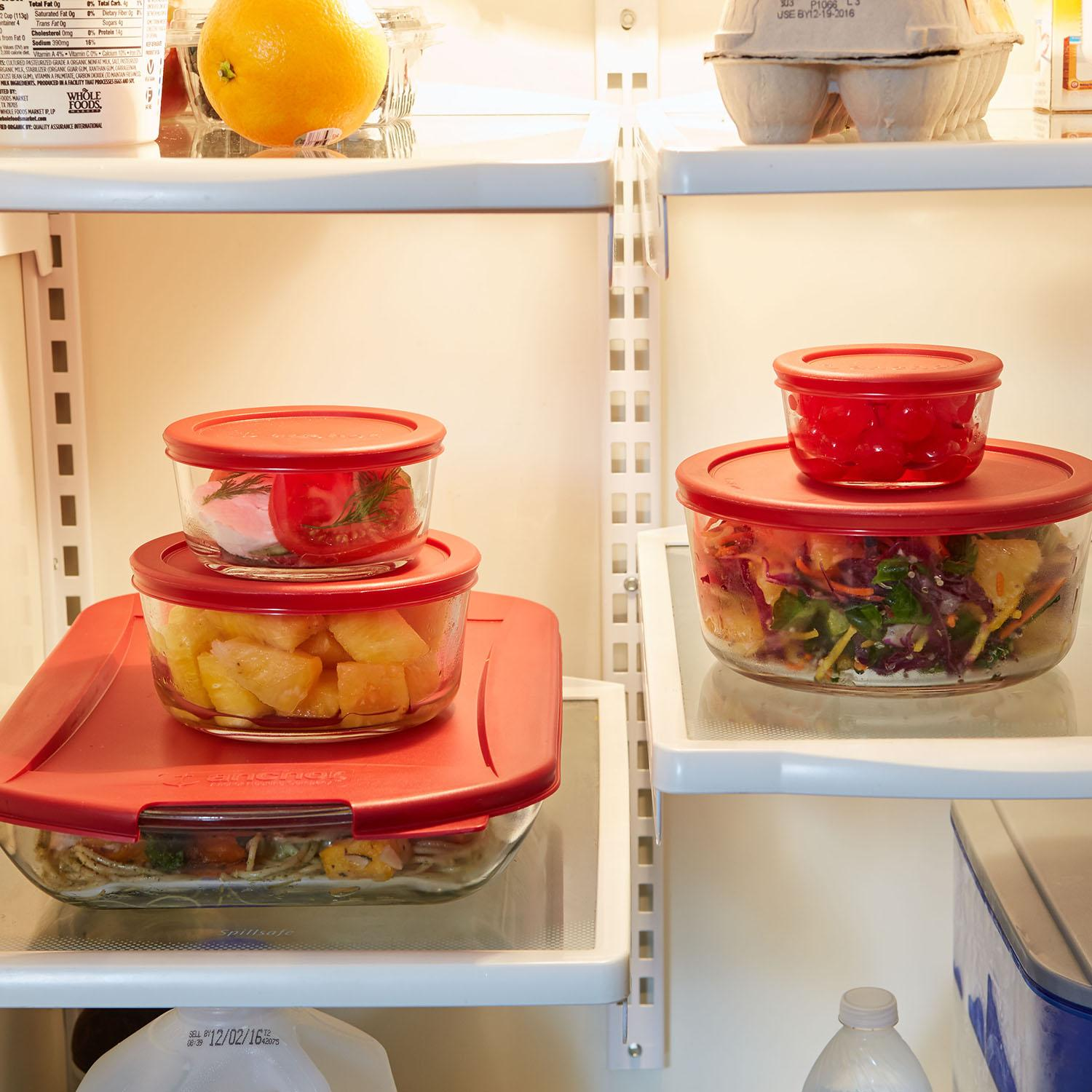 Large Glass Containers With Lids For Storing Food And Dishes