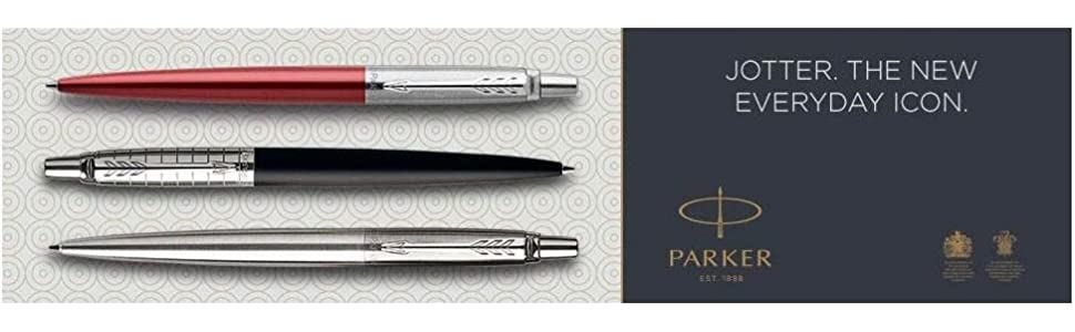 Parker Jotter Stainless Steel Gold Trim Medium Ballpoint Pen 1953206