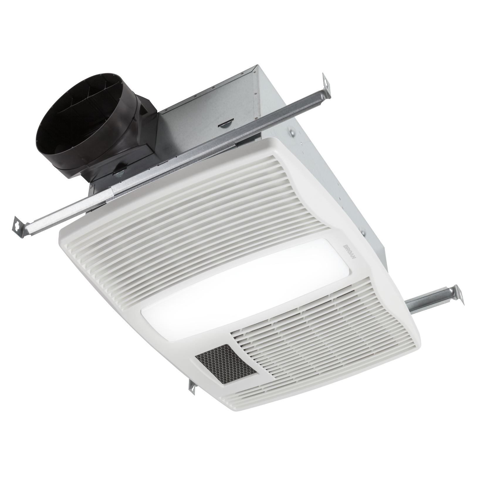 Round Bathroom Fan Light Combination: Broan QTX110HL Ultra Silent Series Bath Fan With Heater