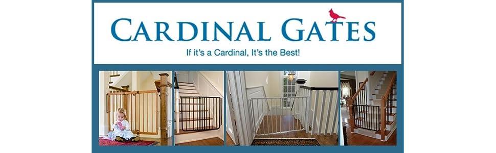"White Cardinal Gates Stairway Angle Baby Gate 27/""-41.5/"""