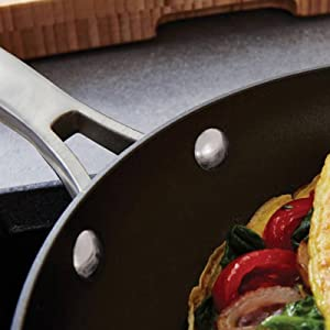 Calphalon Classic Nonstick 12-Inch Fry Pan with Cover - Dual Layer Nonstick
