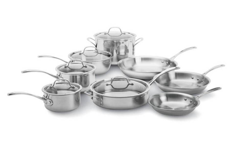 Amazon Com Calphalon Tri Ply Stainless Steel 13 Piece