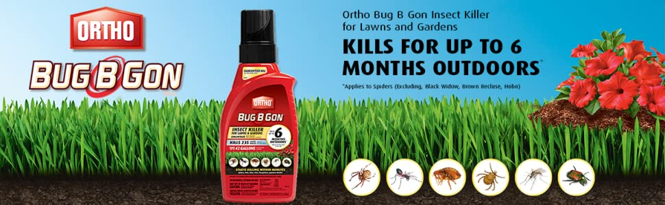 Amazon Com Ortho Bug B Gon Insect Killer For Lawns And Gardens Concentrate Kills 230 Insects Including Mosquitoes Fleas Ticks Ants Use In Lawns Trees Shrubs Vegetables And Fruit Trees 32oz