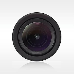 Ultra wide-angle glass lens.