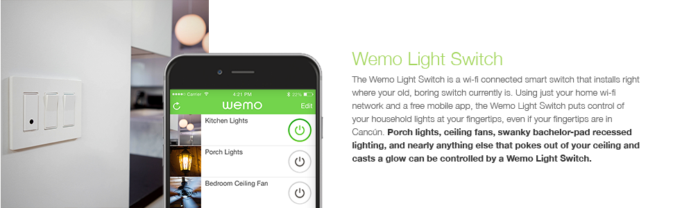 Belkin WeMo Light Switch Control Your Lights From