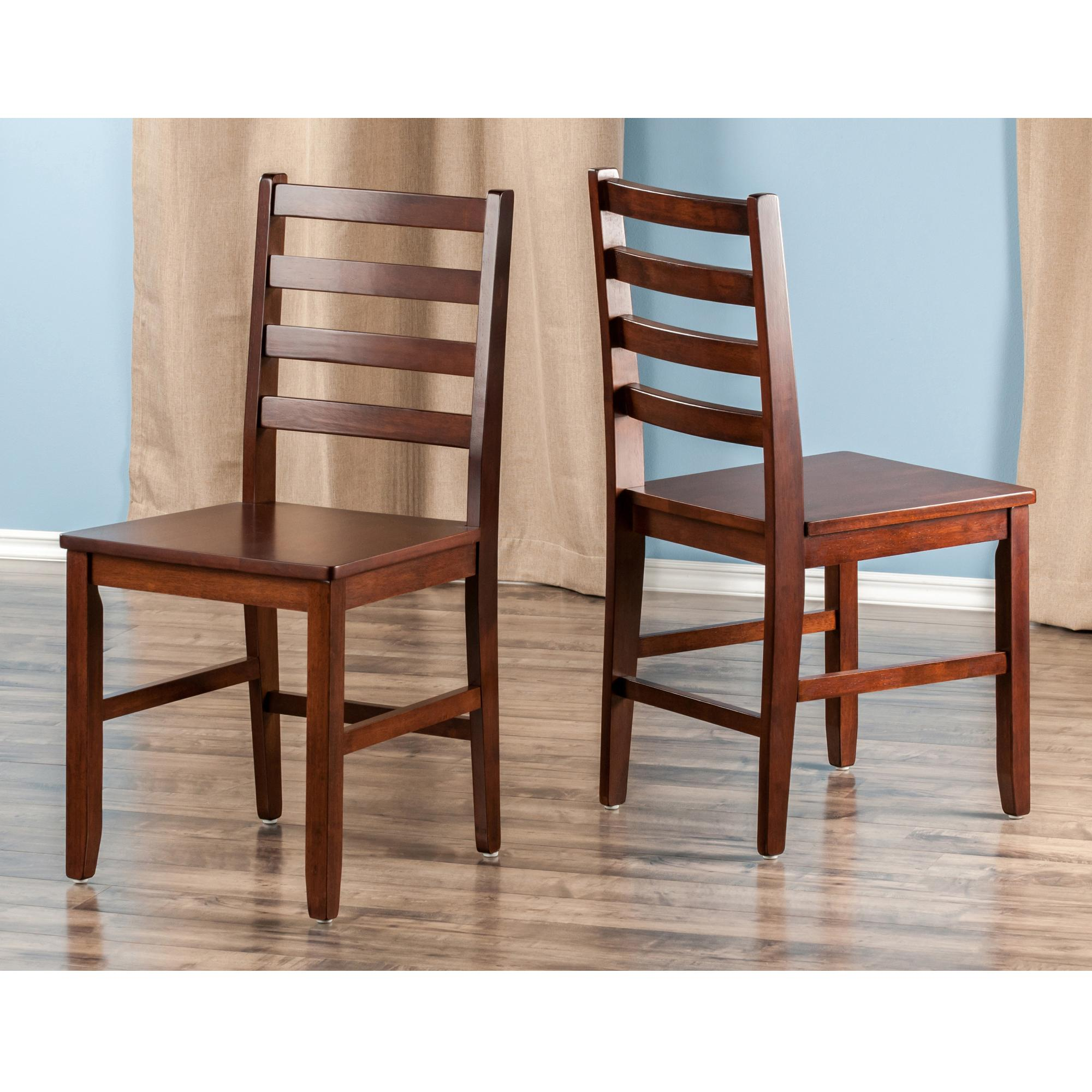 Winsome Wood Hamilton 2 Piece Ladder Back Chair Amazonca Home