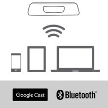 Wireless music streaming with Google Cast